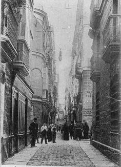 Calle Sagasta, esquina Duque de Tetuán. Hoy, Calle Ancha.Segunda mitad del XIX