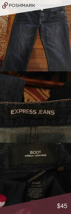 Express Stella Boot low rise, size 12R Jean perfection. Express Stella Boot low rise, size 12R.  Never worn!!! Express Jeans Boot Cut
