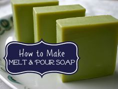 Want to make soap without all the measuring and lye? Try melt and pour. Make any scent and add your choice of additives.