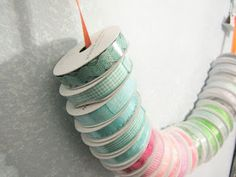Easy way to store your ribbons!