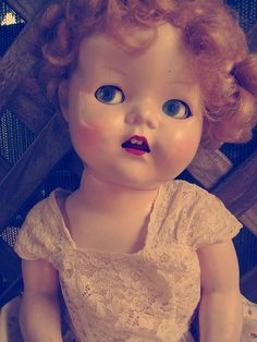 vintage doll - I know who should have this one. Love the expression
