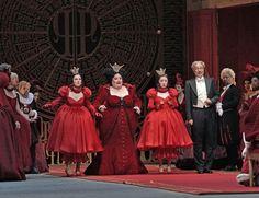 Maya Lahyani as Dorothée, Stephanie Blythe as Madame de la Haltière, Ying Fang as Noémie, and Laurent Naouri as Pandolfe. (Ken Howard / Metropolitan Opera).  Unfractured Fairy Tales: 'Cendrillon' at the Metropolitan Opera - Operavore - WQXR