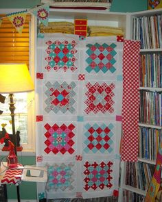 Great color combination for a Great Granny Square quilt...made with Millie's Closet and Sew Cherry