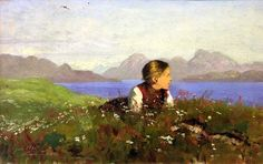 Landscape Painting by Norwegian Artist Hans Dahl: