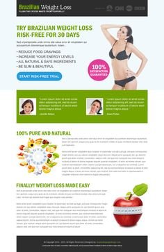 Best conversion centered weight loss landing pages 2014 | Landing Page Design Template for Sale