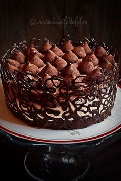Tort cu mousse de ciocolata | Dulciuri fel de fel Tiramisu, Waffles, Caramel, Deserts, Food And Drink, Pudding, Baking, Breakfast, Cake