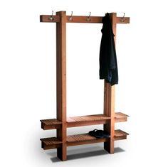 Coat Shoe Hat Rack- Mark Love Custom Furniture, Custom Designed Handmade Wood Furniture Austin, Texas