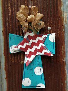 Patriotic Cross Door Hanger