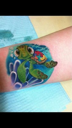 Autism awareness turtle tattoo..too cute