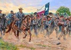 """""""Give Us Hood""""  The men of the 1st Texas Regiment cheer their brigade Commander John Bell Hood during the Antietam Campaign of 1862"""