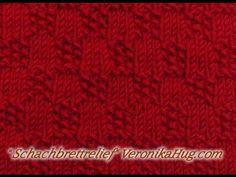 Stricken - Reliefmuster Schachbrettrelief - Veornika Hug