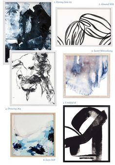 // How to create an abstract gallery wall.