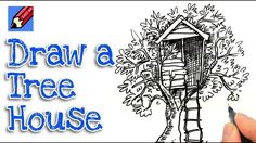 Learn how to draw a Treehouse real easy with Shoo Rayner, the author of Everyone Can Draw - the book that teaches you how to draw Real Easy! You Draw, Learn To Draw, Drawing Tutorials, Drawing Tips, Tree House Drawing, Lettering Tutorial, Step By Step Drawing, Brush Lettering, Drawing For Kids
