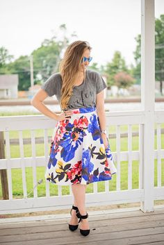 Day to Night Series - Full Floral Skirt