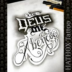 QUE DEUS Chicano Lettering, Tattoo Lettering Fonts, Font Art, Graffiti Lettering, Lettering Design, Love Tattoos, Tatoos, P Tattoo, Geniale Tattoos
