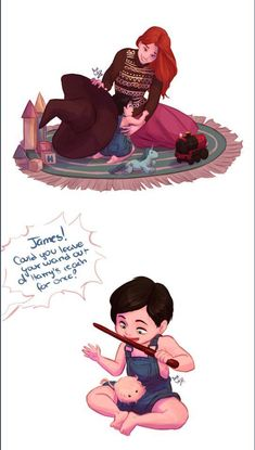 😢😢😢😢😢😢😁Too many feels also did anyone notice the play mat was Hogwarts themed Harry Potter Tumblr, Memes Do Harry Potter, Arte Do Harry Potter, Harry Potter Comics, Harry Potter Ships, Harry Potter Universal, Harry Potter World, Lily Potter, James Potter