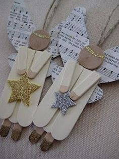leaf and letter handmade: no-budget christmas decor: popsicle sticks!: