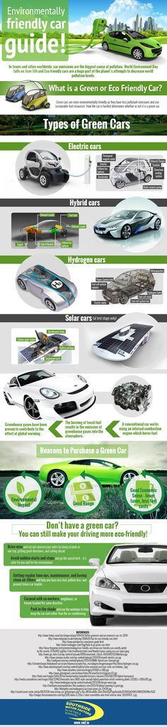 Infographic: Environmentally Friendly Car Guide #infographic