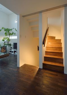 Interior Home Design Trends For 2020 - New ideas Staircase Lighting Ideas, Staircase Design, Home Interior Design, Interior And Exterior, Minimal House Design, Mobile Home Living, Small Modern Home, Stairs Architecture, Modern Stairs
