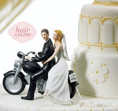 Motorcycle Get Away Wedding Cake Topper Figurines This Would Be Cute For The