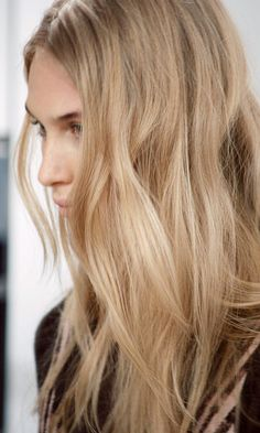 Photos via: The Global Girl Dream hair alert! How insane was the long effortless wavy hair at Hervé Léger...
