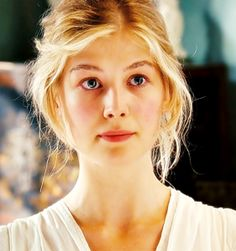 """""""Pride and Prejudice is not just social mores and falling in love. It's about realizing the impact you have on people. It's about realizing that you can hurt others by saying too much, like Lizzy, or too little, like Jane."""" -Rosamund Pike {Jane Bennet}"""