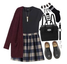 106   school (tag) by tmizzle on Polyvore featuring polyvore, fashion, style, Monki, Pieces, Dr. Martens, Mulberry, Rosendahl, With Love From CA, Jennifer Zeuner, Aesop, Pelle, clothing, school, DrMartens, black and CaraDelevingne