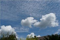 Cirrocumulus stratiformis lacunosus floccus, Cirrocumulus virga, Cumulus mediocris - Clouds Online