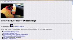 Electronic Resources on Ornithology Natural History, Love Songs