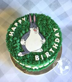 #bigchungus #bugsbunny #birthdaycake #cake #cakedecorating #partycake