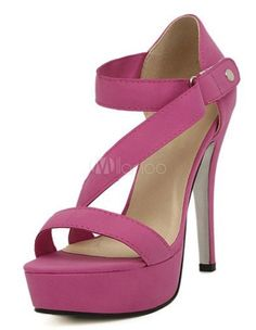 Sweet Pink PU Leather Stiletto