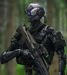 Robot concept art military future soldier 55 Ideas for 2019 Robot Concept Art, Armor Concept, Cyberpunk, Military Robot, Arte Robot, Futuristic Armour, Cool Robots, Future Soldier, Robot Design