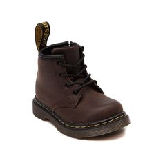 Shop for Toddler Dr. Martens 4-Eye Boot in Dark Brown at Journeys Kidz. Shop today for the hottest brands in mens shoes and womens shoes at JourneysKidz.com.Little 4-Eye lace-up featuring a leather upper with welt construction and air-cushioned, slip-resistant rubber sole. ORDER IN YOUR NORMAL U.S. SIZES.