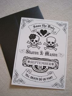 Till Death Do Us Part - Save The Date. $1.50, via Etsy.