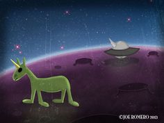 "A Unicorn a Day ""Unicorn Flying Object"""