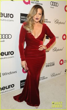 Khloe Kardashian - Elton John Oscars Party 2014