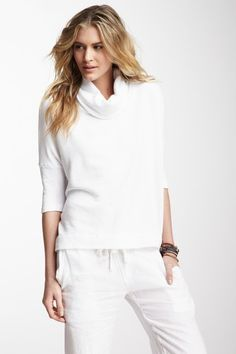 James Perse  Boxy Funnel Neck Top