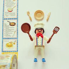 お昼の時間ですよーヽ(´ー`)ノ #playmobil #toy #chef #cook #recipe #MaskingTape #Fryingpan #pan #dish #knife #Fork #プレイモービル #プレモ #プレモビ #マスキングテープ #マステ #マステモビ #mt #レシピ #コックさん #料理人 #フライパン