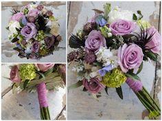 Ramo de novia en lilas y morados. Mayula Flores