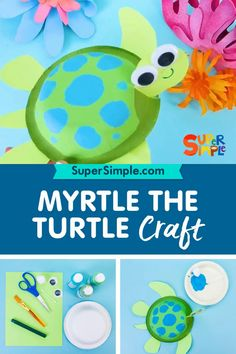 Make a cute Myrtle the Turtle craft! Diy Crafts For Kids Easy, Animal Crafts For Kids, Toddler Crafts, Art For Kids, Water Animals Preschool, Preschool Crafts, Sea Activities, Craft Activities For Kids, Pigeon Craft