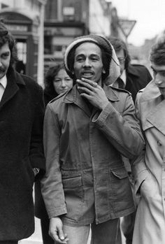 6 April 1977: Outside Marylebone Magistrates Court in London, where he was fined £50 for possession of cannabis.....
