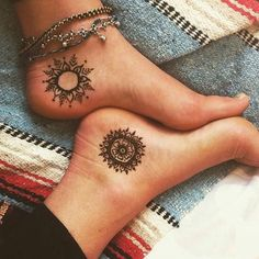Ink inspired via #pinterest . . . #inspiration #tattoo #henna #feet #mandala #gypsy #gypsysoul