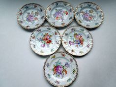 Lot Dresden Flowers 6 Plates Richard Klemm Ruffled Gilded Rims Handpainted Christmas  Wedding Anniversary Birthday Collector Gift by ColorfullGifts on Etsy