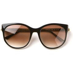 Thierry Lasry Black Axxxexxxy Sunglasses (31.155 RUB) ❤ liked on Polyvore featuring accessories, eyewear, sunglasses, glasses, oculos, lentes, gradient lens sunglasses, gradient glasses, thierry lasry glasses and thierry lasry sunglasses