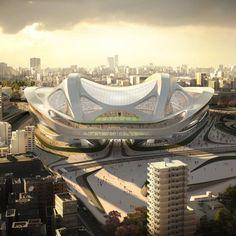 Japan taps Zaha Hadid to craft Olympic spaceship stadium in Tokyo | DVICE