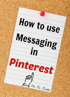 How To Use Messaging in Pinterest (and keep comments private!)