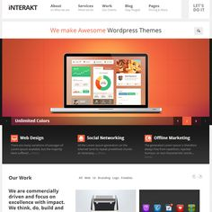 Interakt Agency WordPress Theme by ThemeFuse | Best WordPress Themes 2013