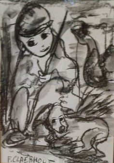 Frans Claerhout Figures Charcoal 20 x 28 Framed 20 X 28 Frame, Pen Sketch, Sketches, Charcoal Art, South African Artists, Art World, Love Art, Art Photography, Artsy