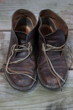 old leather shoes and their perfect patina