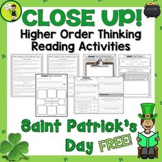 St. Patrick's Day Reading Comprehension Passage and Questions FREEBIE